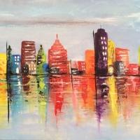 Vibrant City Skyline